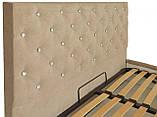 Кровать Richman Ковентри VIP 120 х 190 см Мисти Mocco С дополнительной металлической цельносварной рамой С1, фото 3