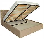 Кровать Richman Ковентри VIP 120 х 190 см Мисти Mocco С дополнительной металлической цельносварной рамой С1, фото 4