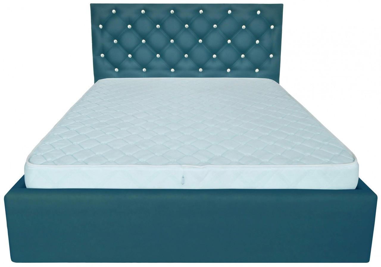 Ліжко Richman Ковентрі VIP 120 х 190 см Флай 2215 З додаткової металевої суцільнозварний рамою С1 Бірюзова