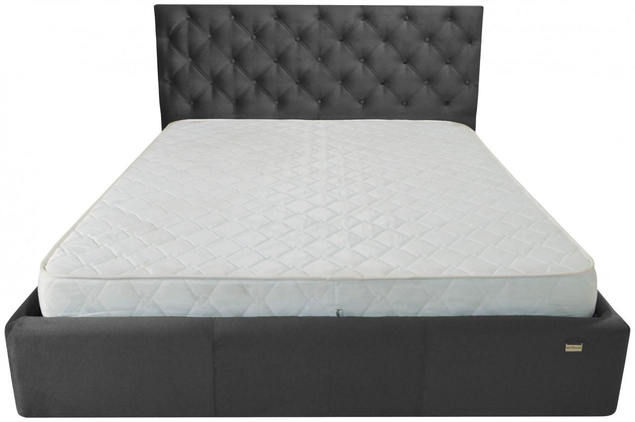 Ліжко Richman Ковентрі VIP 140 х 190 см Missoni 009 З додатковою металевою рамою суцільнозварний