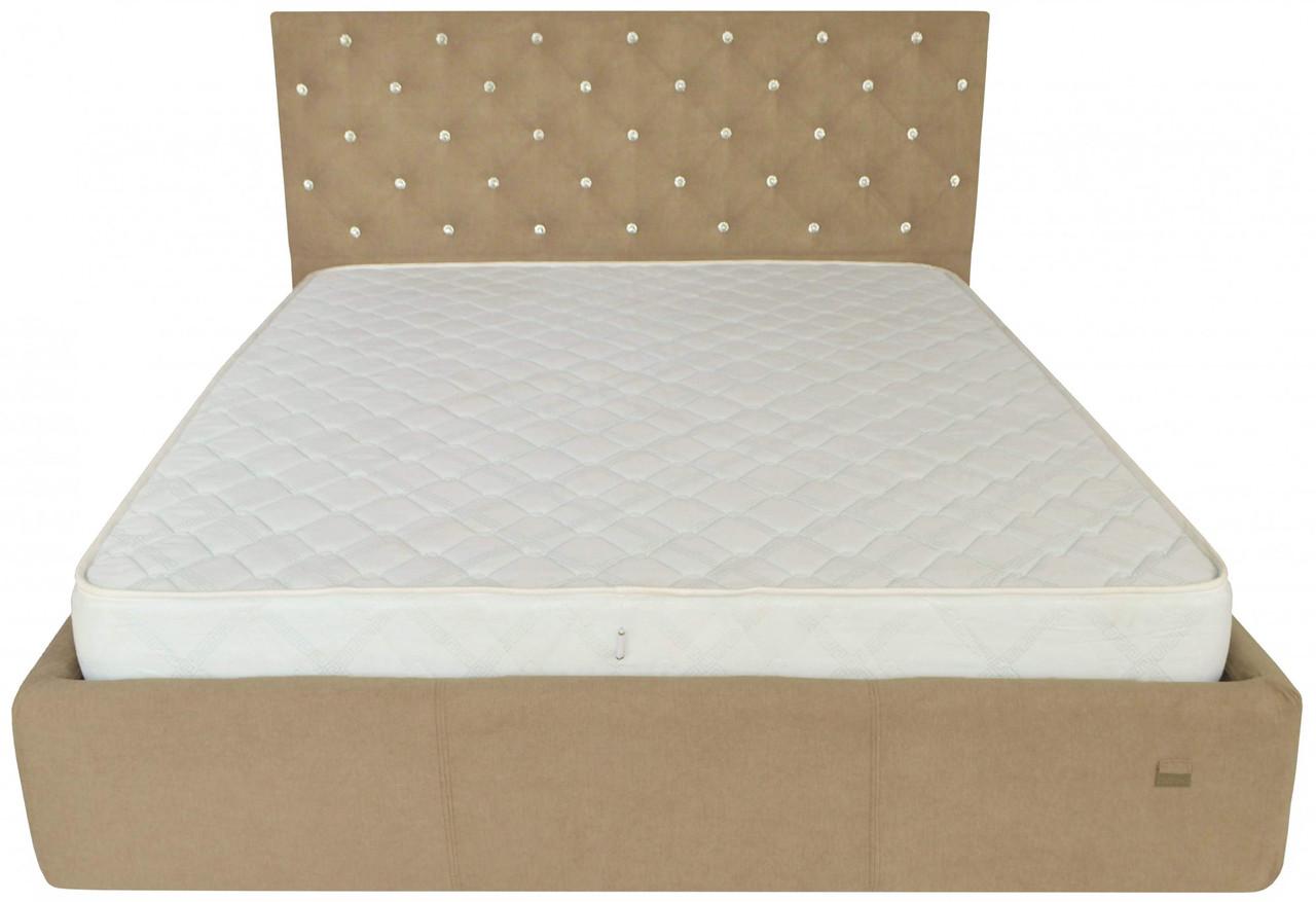 Кровать Coventry VIP 140 х 200 см Мисти Mocco С дополнительной металлической цельносварной рамой С1 Бежевая