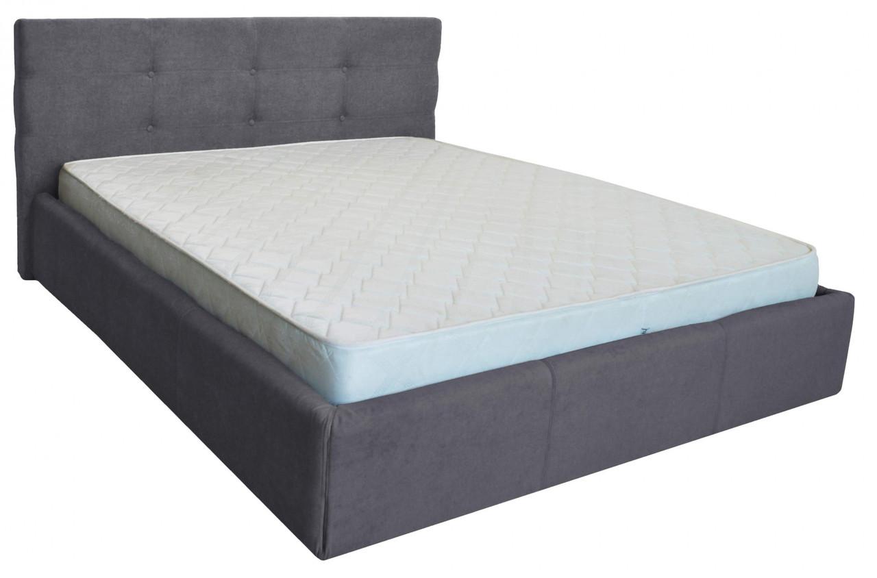 Кровать Richman Манчестер VIP 120 х 190 см Мисти Dark Grey A1 С дополнительной металлической цельносварной