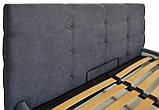 Кровать Richman Манчестер VIP 120 х 190 см Мисти Dark Grey A1 С дополнительной металлической цельносварной, фото 3