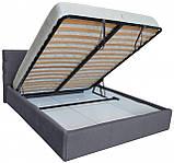 Кровать Richman Манчестер VIP 120 х 190 см Мисти Dark Grey A1 С дополнительной металлической цельносварной, фото 4