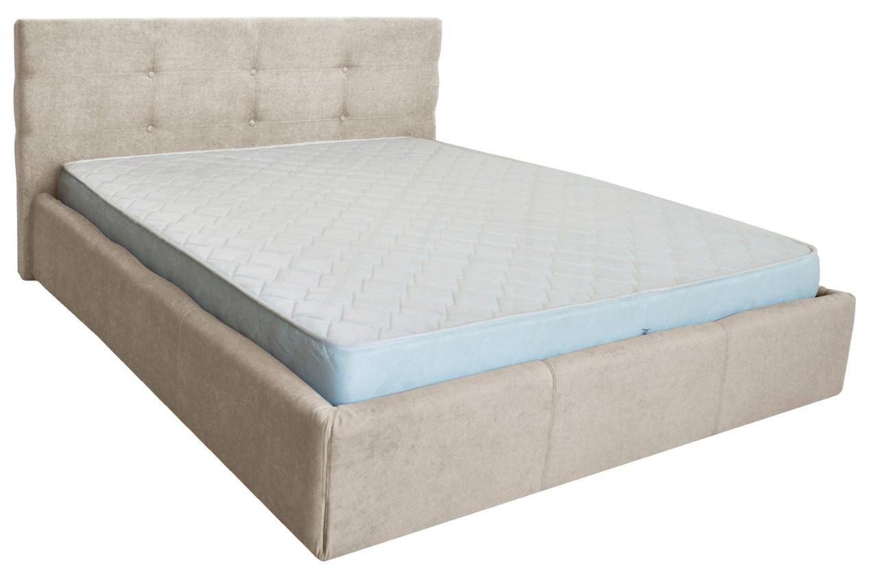 Кровать Manchester VIP 120 х 200 см Мисти Milk A1 С дополнительной металлической цельносварной рамой Бежевая
