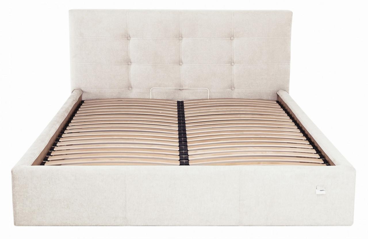 Кровать Richman Манчестер VIP 140 х 190 см Мисти Milk С дополнительной металлической цельносварной рамой