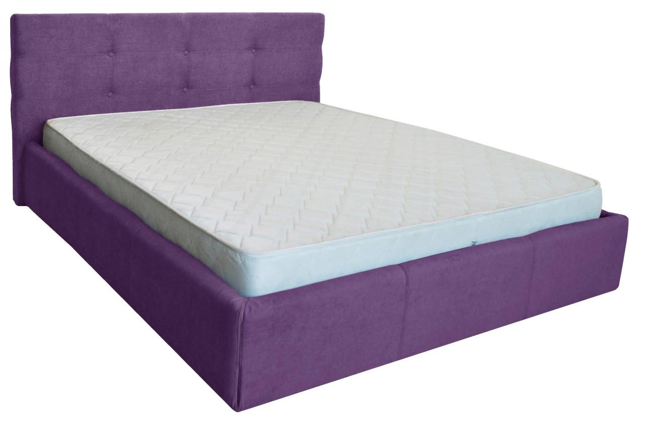 Ліжко Richman Манчестер VIP 140 х 200 см Місті Dark Violet З додаткової металевої суцільнозварний рамою Фіолетова