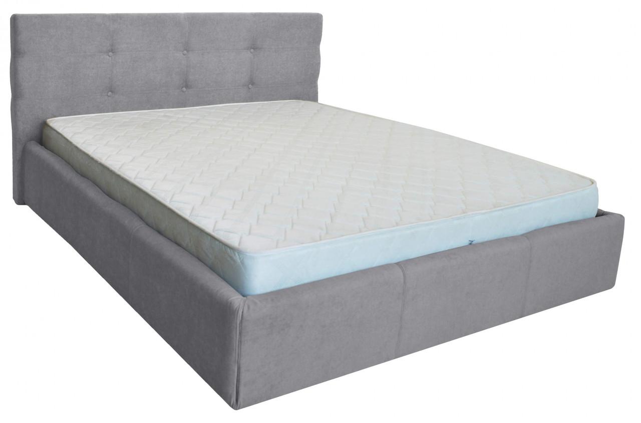 Ліжко Richman Манчестер VIP 140 х 200 см Місті Grey З додаткової металевої суцільнозварний рамою Сіра