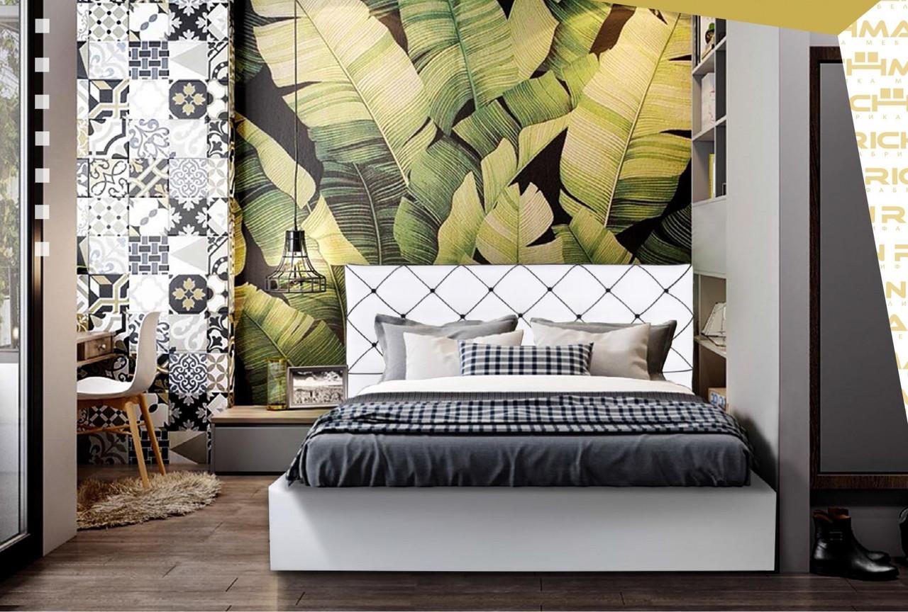 Кровать Melissa VIP 140 х 190 см Fly 2200 С дополнительной металлической цельносварной рамой Белая