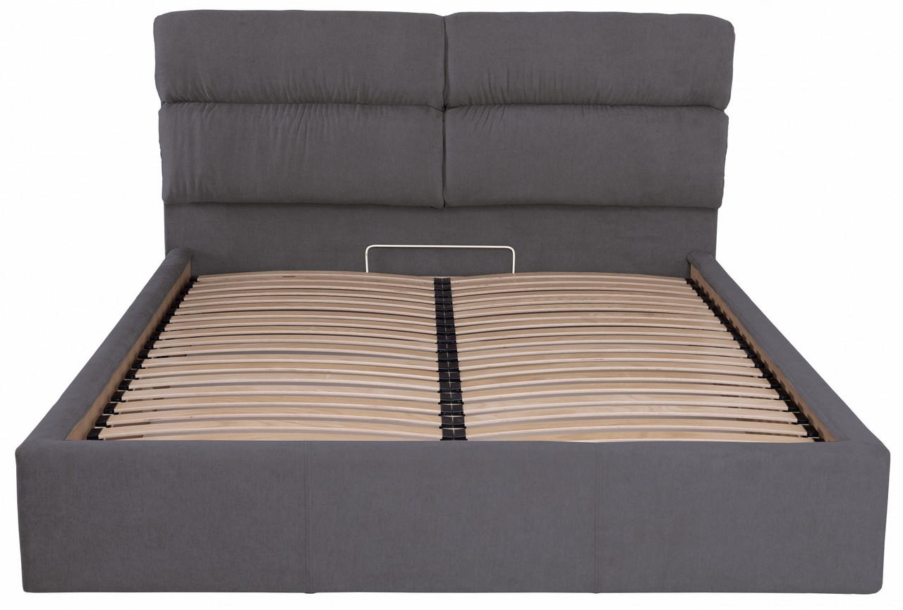 Ліжко Richman Оксфорд VIP 120 х 200 см Місті Dark Grey З додаткової металевої суцільнозварний рамою Темно-сіра