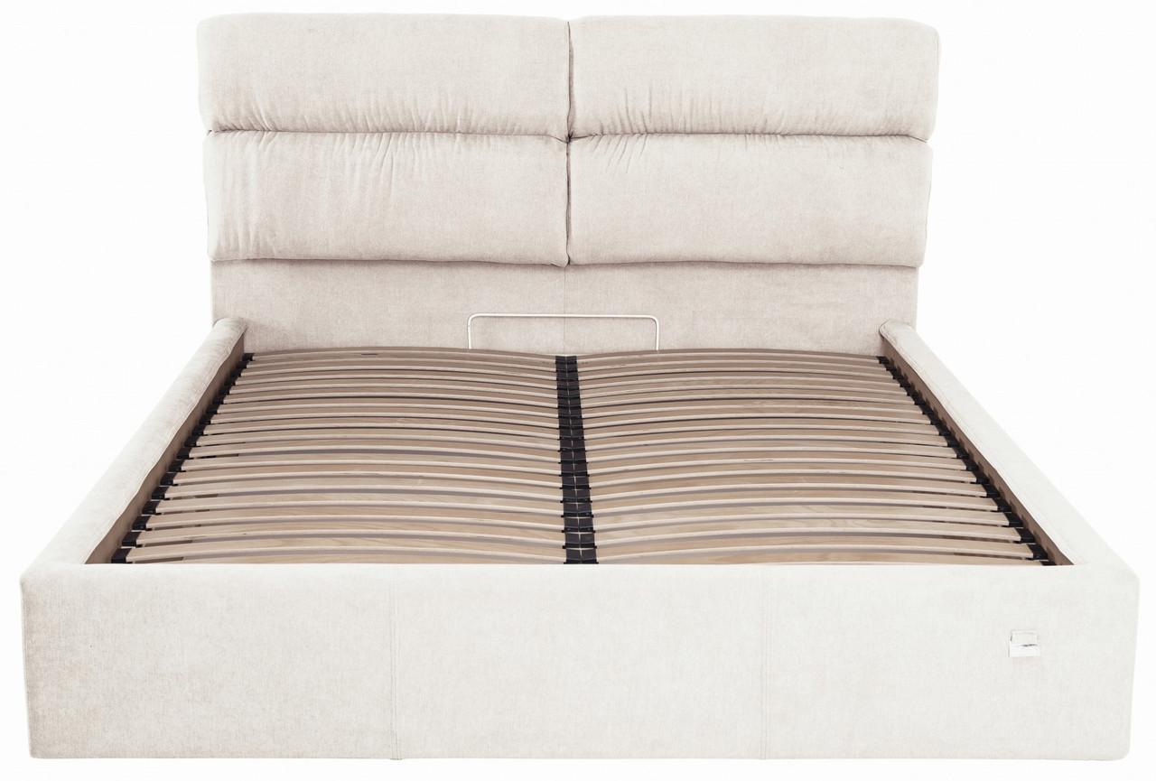 Ліжко Richman Оксфорд VIP 120 х 200 см Місті Milk З додаткової металевої суцільнозварний рамою Бежева