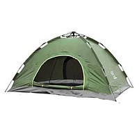 Палатка туристическая двухместная автомат зеленая SKL11-239421