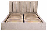 Кровать Richman Санам VIP 120 х 190 см Мисти Mocco С дополнительной металлической цельносварной рамой Серая, фото 2