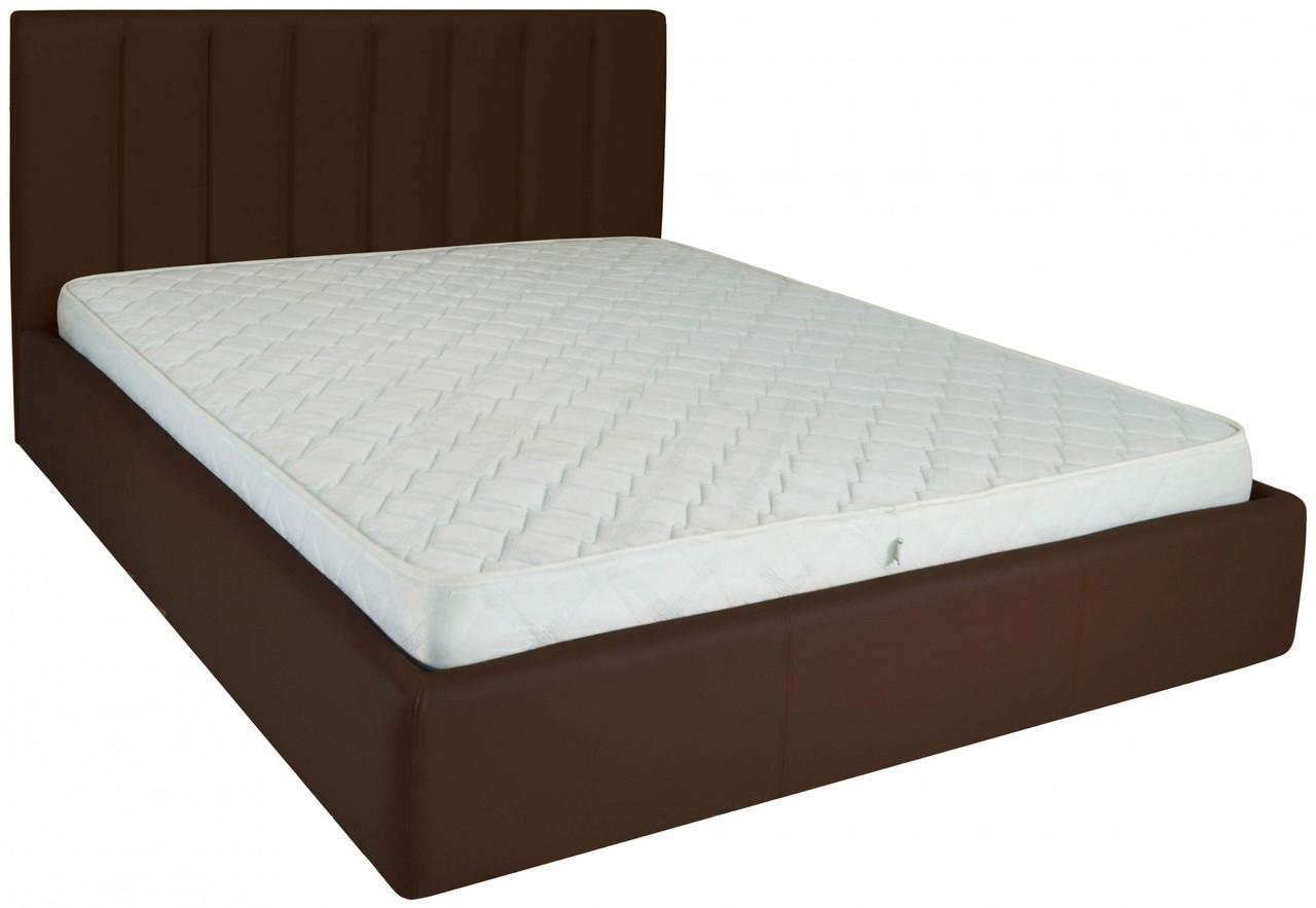Ліжко Richman Санам VIP 120 х 190 см Флай 2231 A1 З додаткової металевої суцільнозварний рамою Темно-коричнева