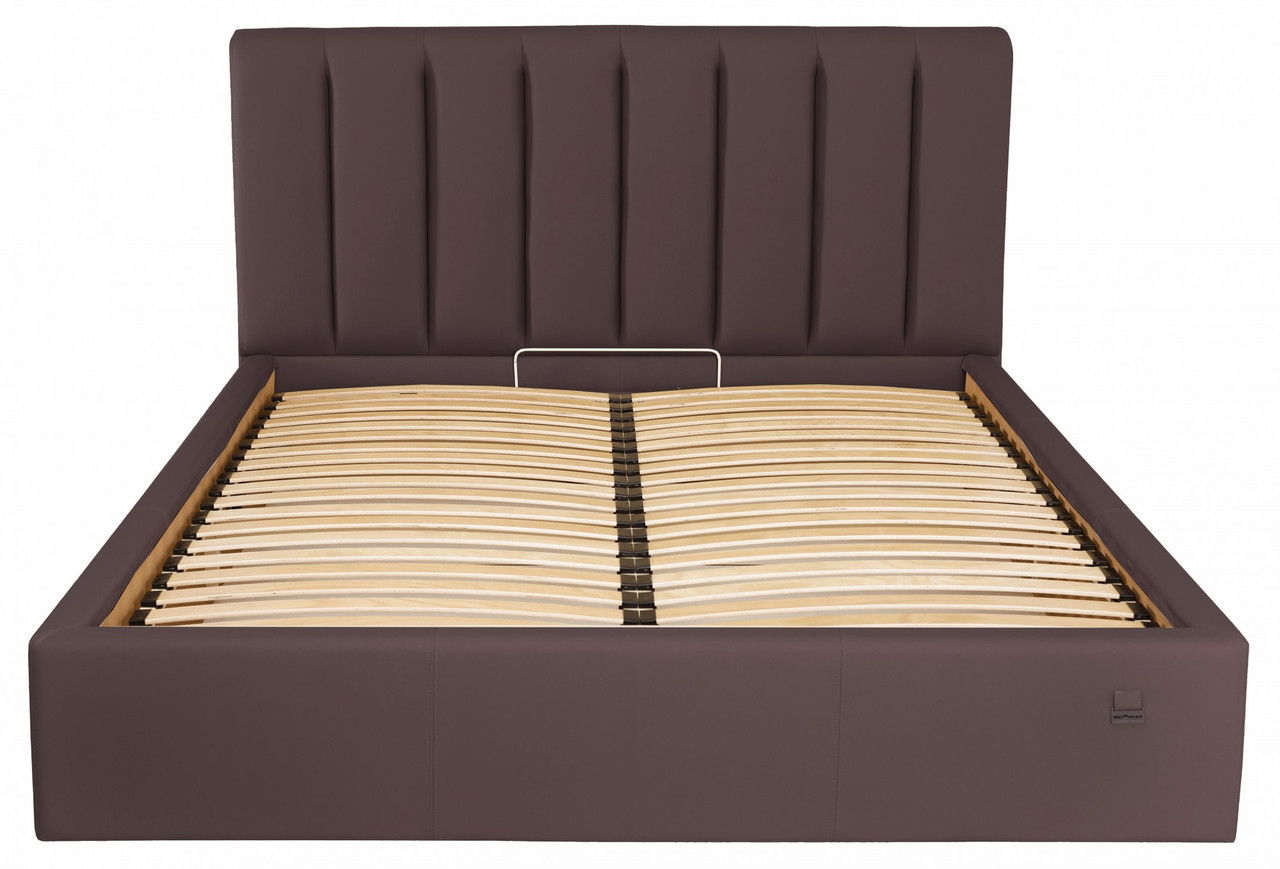 Кровать Sanam VIP 120 х 200 см Fly 2231 С дополнительной металлической цельносварной рамой Темно-коричневая