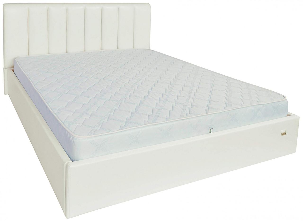 Ліжко Richman Санам VIP 140 х 200 см Лаки White З додаткової металевої суцільнозварний рамою Біла