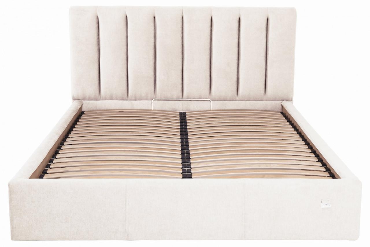 Кровать Sanam VIP 140 х 200 см Мисти Milk С дополнительной металлической цельносварной рамой Бежевая
