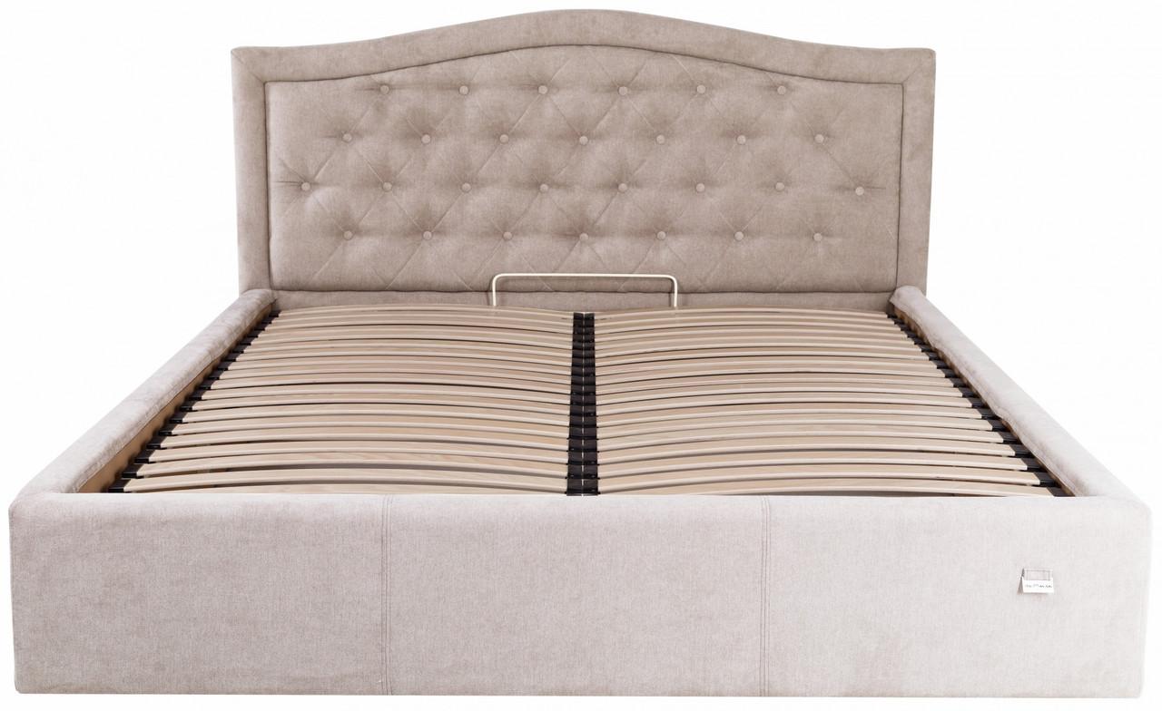 Кровать Scarlett VIP 140 х 200 см Мисти Mocco С дополнительной металлической цельносварной рамой Бежевая