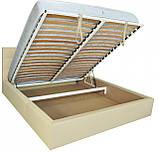Кровать Chester VIP 140 х 190 см Флай 2207 A1 С дополнительной металлической цельносварной рамой Бежевая, фото 5