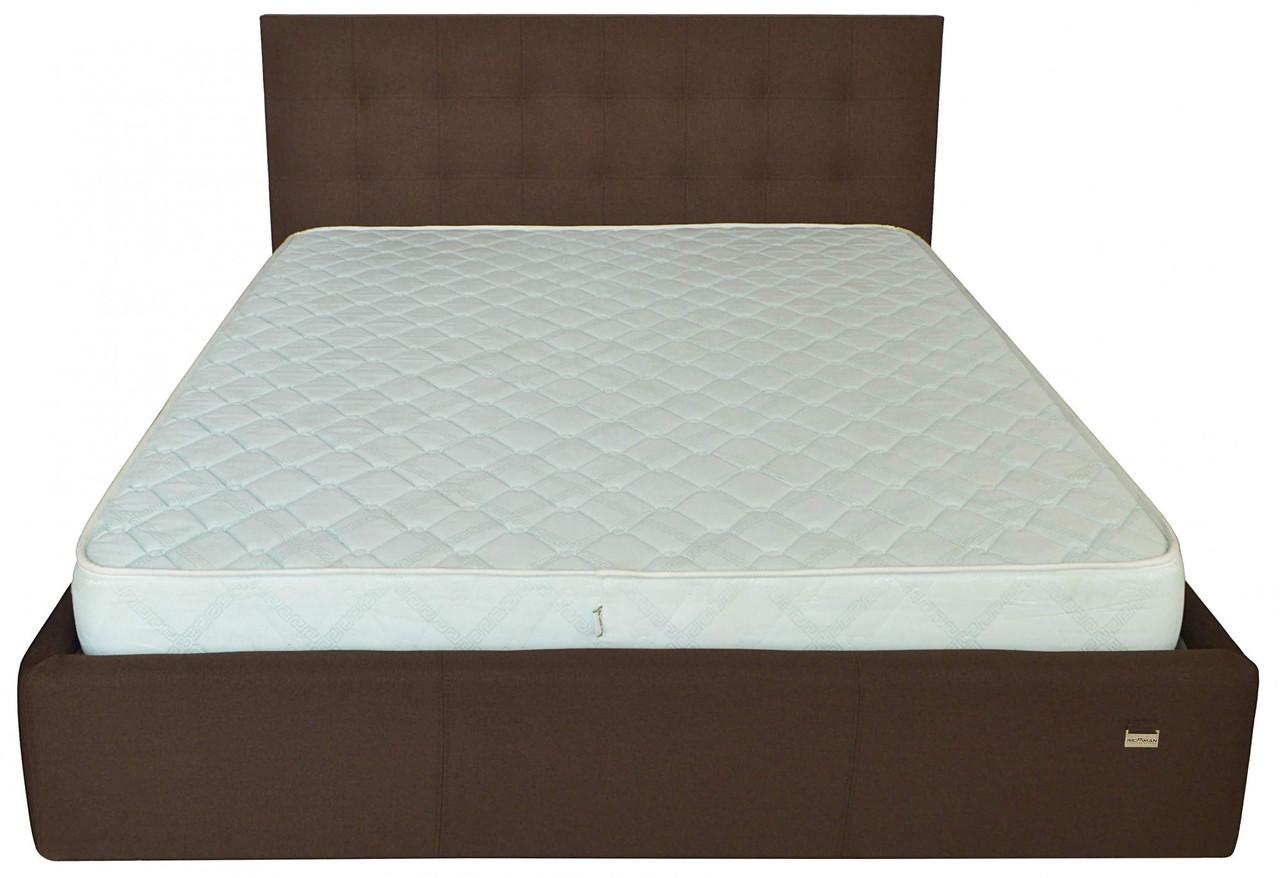 Кровать Chester VIP 140 х 200 см Etna-027 С дополнительной металлической цельносварной рамой Коричневая