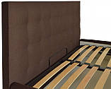 Кровать Chester VIP 140 х 200 см Etna-027 С дополнительной металлической цельносварной рамой Коричневая, фото 3