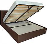 Кровать Chester VIP 140 х 200 см Etna-027 С дополнительной металлической цельносварной рамой Коричневая, фото 4
