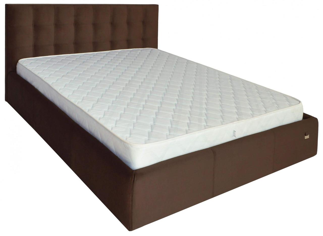 Ліжко Richman Честер VIP 140 х 200 см Missoni 011 З додаткової металевої суцільнозварний рамою Темно-коричнева