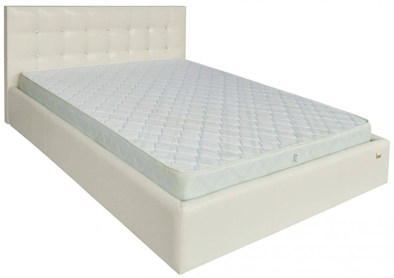 Ліжко Richman Честер VIP 140 х 200 см Кінг 400 З додаткової металевої суцільнозварний рамою C1 Біла