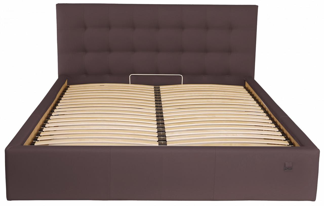 Кровать Chester VIP 140 х 200 см Fly 2231 С дополнительной металлической цельносварной рамой Темно-коричневая