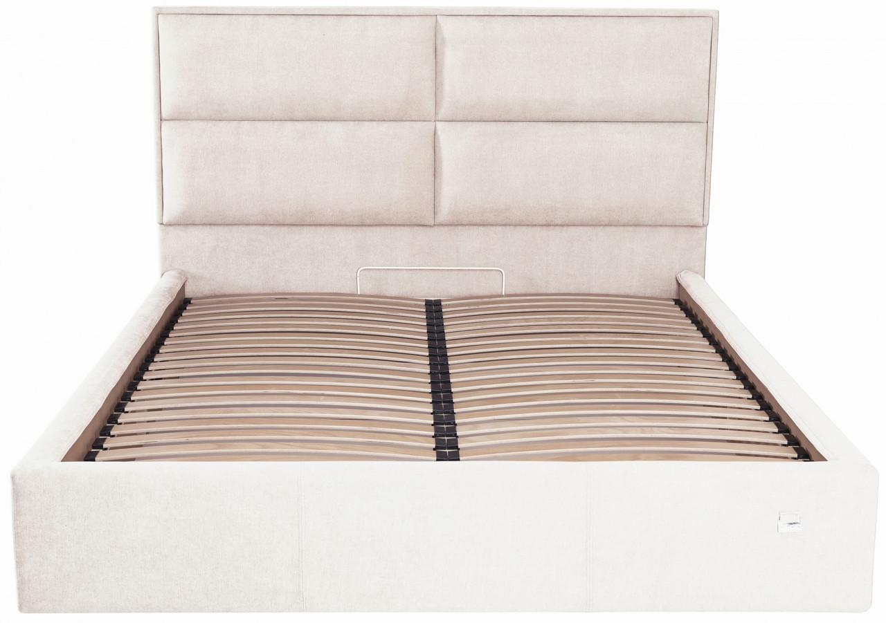 Кровать Richman Шеффилд VIP 140 х 200 см Мисти Milk С дополнительной металлической цельносварной рамой Бежевая