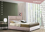 Кровать Richman Шеффилд VIP 140 х 200 см Мисти Milk С дополнительной металлической цельносварной рамой Бежевая, фото 10