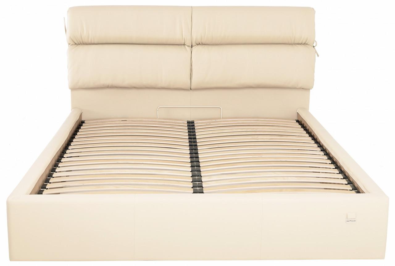 Кровать Richman Эдинбург VIP 120 х 190 см Флай 2207 С дополнительной металлической цельносварной рамой Бежевая