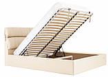 Кровать Richman Эдинбург VIP 120 х 190 см Флай 2207 С дополнительной металлической цельносварной рамой Бежевая, фото 8