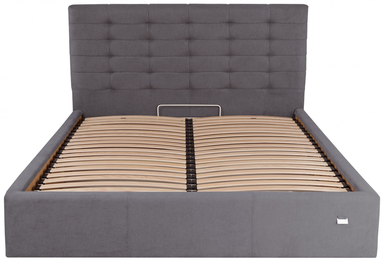 Кровать Erika VIP 140 х 190 см Мисти Dark Grey С дополнительной металлической цельносварной рамой Темно-серая