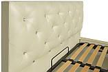 Кровать Двуспальная Richman Бристоль VIP 160 х 200 см Мадрас Перламутр 3 White С дополнительной металлической, фото 3