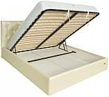Кровать Двуспальная Richman Бристоль VIP 160 х 200 см Мадрас Перламутр 3 White С дополнительной металлической, фото 4