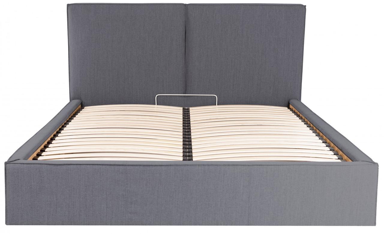 Кровать Двуспальная Delhi VIP 160 х 200 см Мисти Dark Grey С дополнительной металлической цельносварной рамой