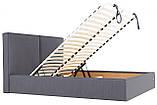Кровать Двуспальная Delhi VIP 160 х 200 см Мисти Dark Grey С дополнительной металлической цельносварной рамой, фото 6