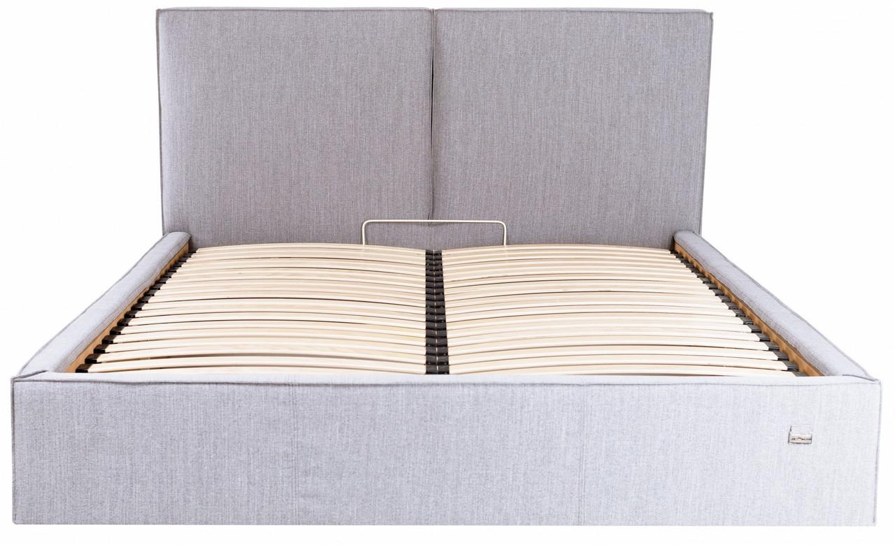 Кровать Двуспальная Richman Дели VIP 160 х 200 см Мисти Grey С дополнительной металлической цельносварной