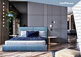 Кровать Двуспальная Delhi VIP 180 х 190 см Мисти Dark Grey С дополнительной металлической цельносварной рамой, фото 9