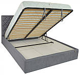 Кровать Двуспальная Richman Кембридж VIP 160 х 200 см Fibril 16 С1 С дополнительной металлической, фото 4