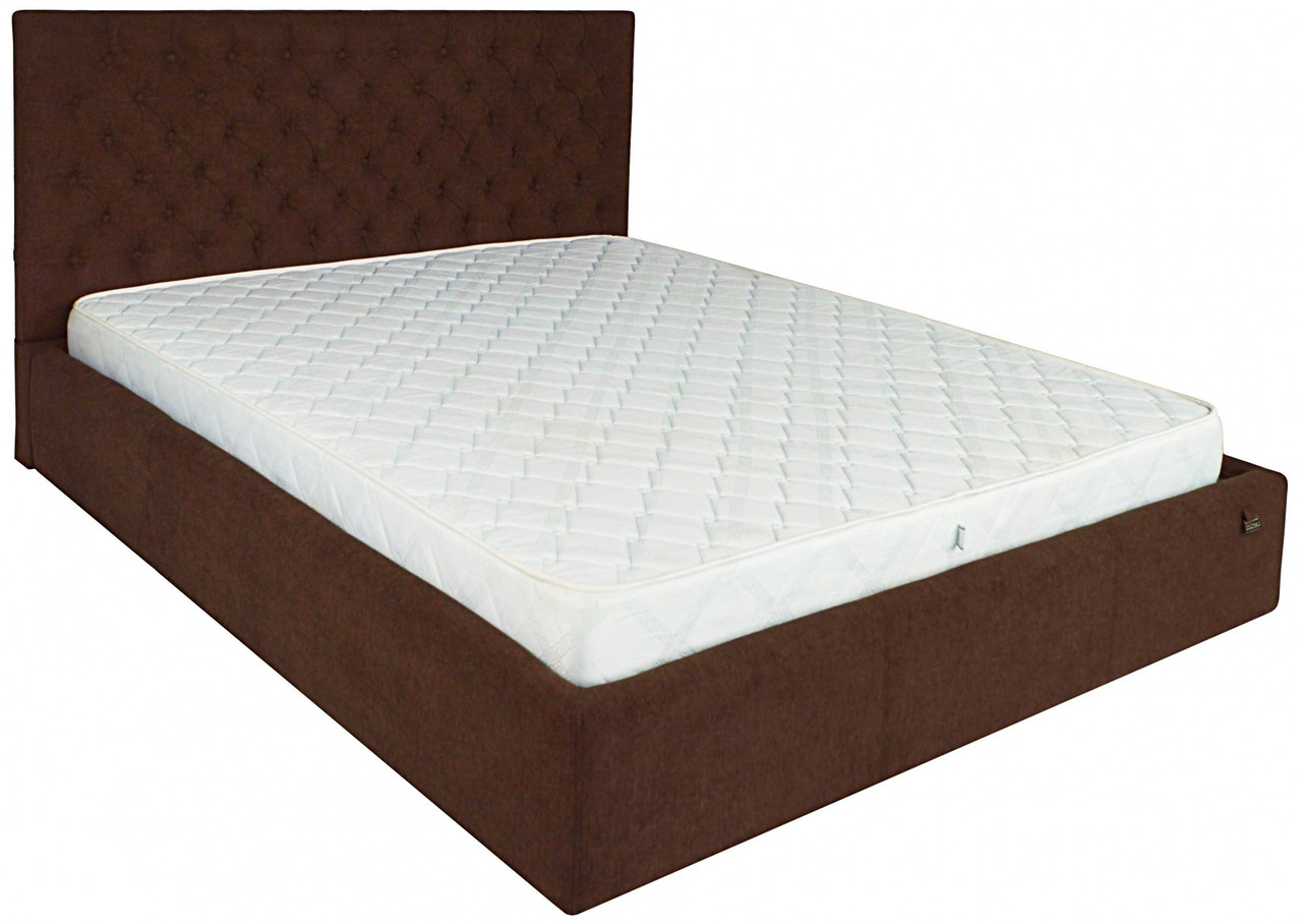 Кровать Двуспальная Richman Кембридж VIP 160 х 200 см Мисти Chocolate С дополнительной металлической