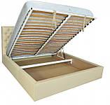 Кровать Двуспальная Richman Кембридж VIP 180 х 190 см Флай 2207 A1 С дополнительной металлической, фото 4