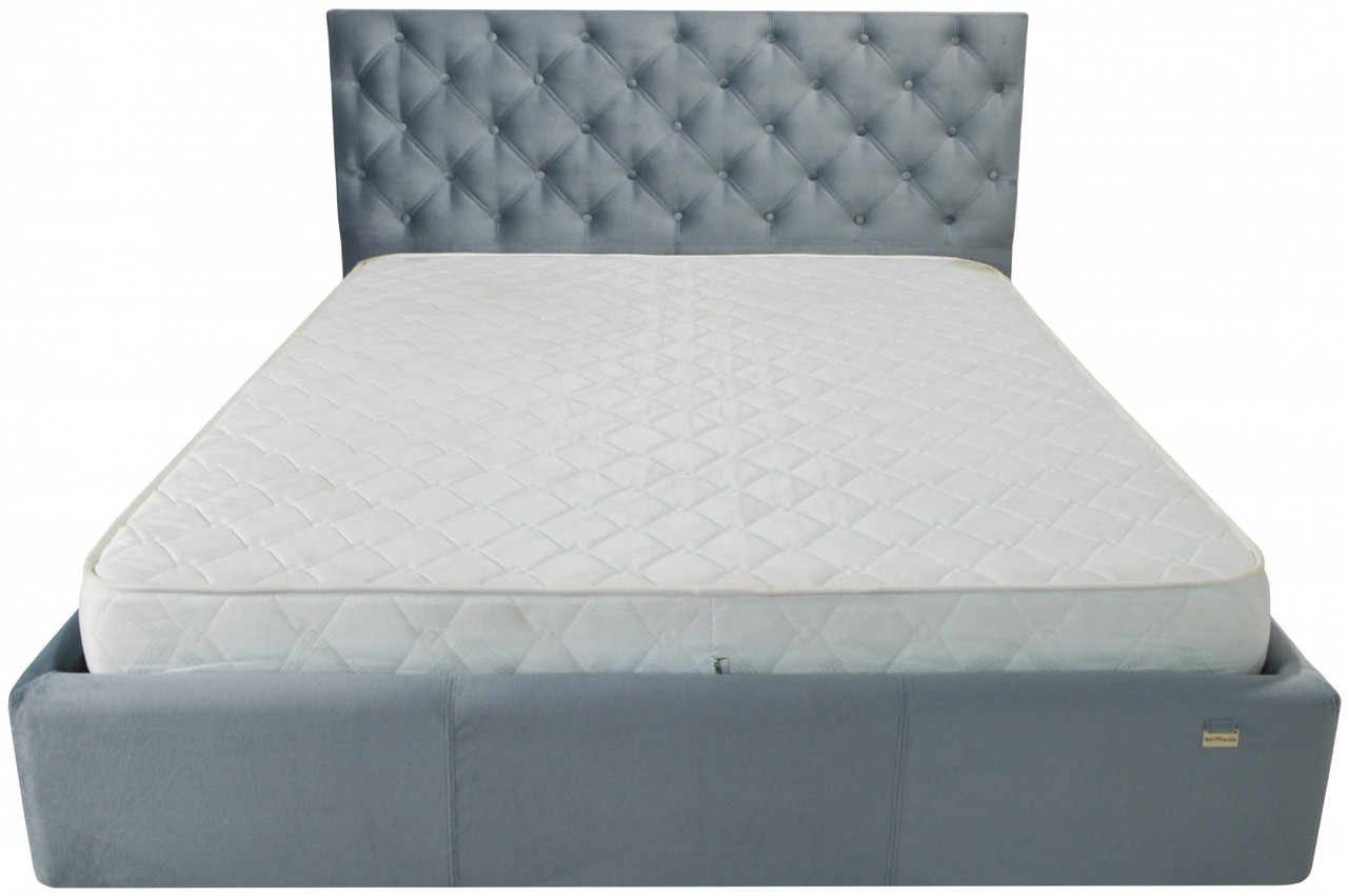 Кровать Двуспальная Richman Ковентри VIP 180 х 190 см Missoni 030 С дополнительной металлической цельносварной рамой Синяя