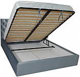 Кровать Двуспальная Richman Ковентри VIP 180 х 190 см Missoni 030 С дополнительной металлической цельносварной рамой Синяя, фото 4