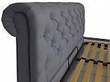 Кровать Двуспальная Richman Лондон VIP 180 х 190 см Fibril 16 C1 С дополнительной металлической цельносварной рамой Темно-серая, фото 3