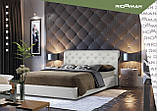 Кровать Двуспальная Richman Лондон VIP 180 х 190 см Fibril 16 C1 С дополнительной металлической цельносварной рамой Темно-серая, фото 8