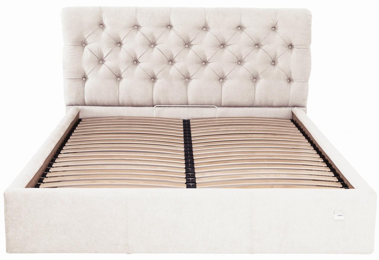 Кровать Двуспальная Richman Лондон VIP 180 х 200 см Мисти Milk С дополнительной металлической цельносварной