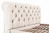 Кровать Двуспальная Richman Лондон VIP 180 х 200 см Мисти Milk С дополнительной металлической цельносварной, фото 5