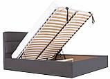 Кровать Двуспальная Richman Оксфорд VIP 160 х 190 см Мисти Dark Grey С дополнительной металлической цельносварной рамой Темно-серая, фото 6